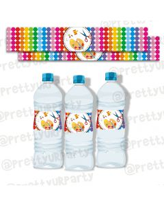 Art & Craft Party Water Bottle Labels