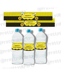 Bumble Bee Water Bottle Labels