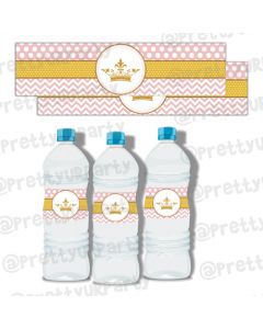 Royal Princess Water Bottle Labels