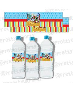 Mickey Mouse Clubhouse Inspired Bottle Labels