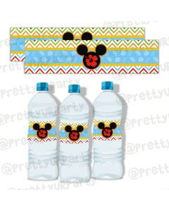 Mickey Mouse Luau Bottle Labels