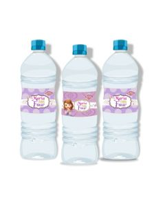 Sofia the first Enchanted Garden Party Water Bottle Labels