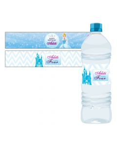 Disney Cinderella Water Bottle Labels
