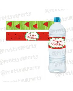 Watermelon Theme Water Bottle Labels