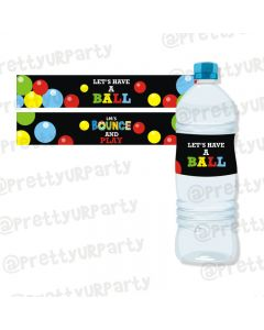 Ball Theme Water Bottle Labels