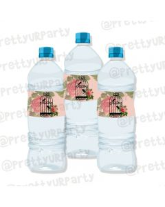 Cage Theme Water Bottle Labels