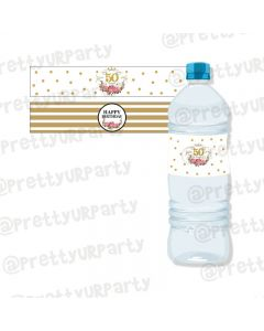 Milestone Birthday Theme Water Bottle Labels