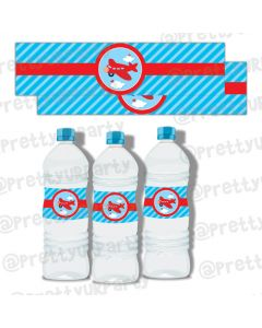 Airlines Water Bottle Labels