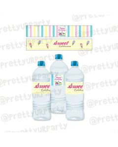 Ice Cream Theme Water Bottle Labels