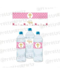 Baptism Theme Water Bottle Labels