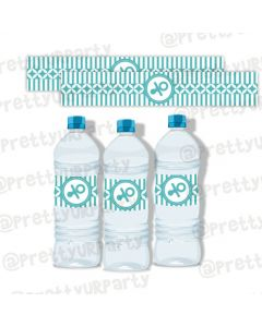Tiffany Baby Shower water bottle labels