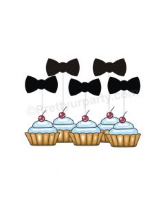 Bow Tie Cupcake Topper