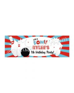 Personalized Bowling Theme Banner 36in