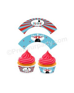 Bowling Theme Cupcake Wrappers
