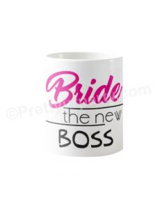 Personalized Bride the New Boss Bridal Shower Mug