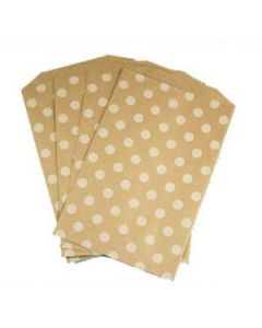 Brown Polka Dot Favor Bag -Pack of 12