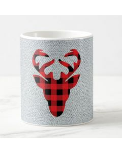 Christmas Reindeer Head Mug