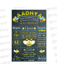 Bumble Bee Chalkboard Poster