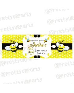 Personalized Bumble Bee Birthday Banner 36in