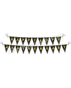 Black 50th Anniversary Bunting