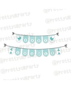 Tiffany Baby Shower bunting