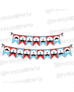 Moustache Theme Bunting