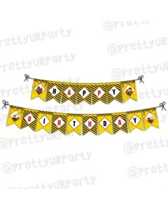 New Construction Theme Bunting