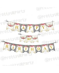 Milestone Birthday Theme Bunting