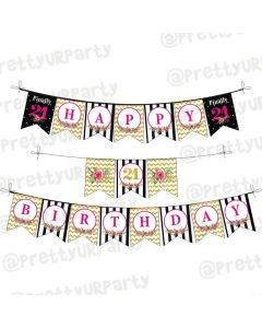21st Birthday Theme Bunting
