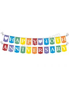 Rainbow 40th Anniversary Bunting