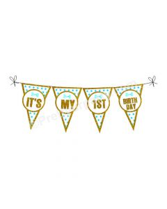 1st Birthday Bunting - Blue