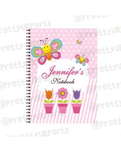 Butterfly Note Books with coloured Pages