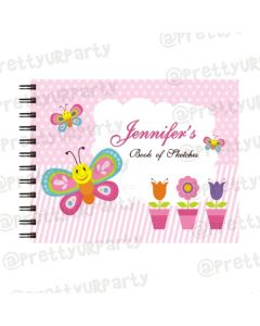 Butterfly themed Personalised Sketchbook