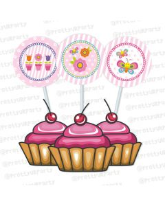 butterfly cupcake / food toppers