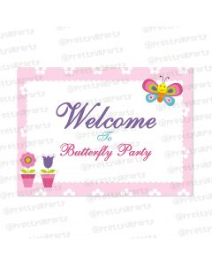 butterfly entrance banner / door Sign