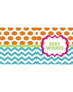 custom best wishes orange polka & stripes