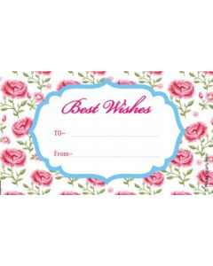 custom best wishes pink floral