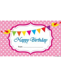 custom best wishes birthday pink with bunting