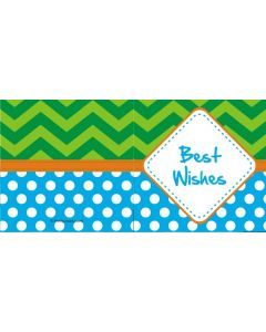 custom best wishes polka dot & stripes
