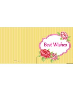 custom best wishes yellow floral