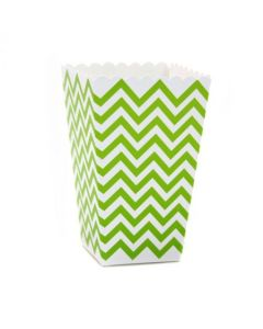 Green Chevron Popcorn Box - Pack of 10