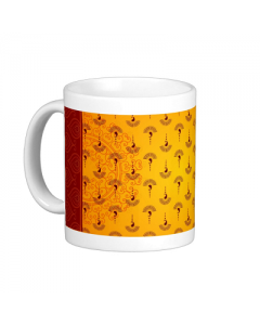 Yellow Paisely Mug