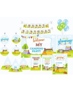 Camping Party Decorations - 90 Pieces
