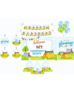 Camping Party Decorations Package - 70 pieces