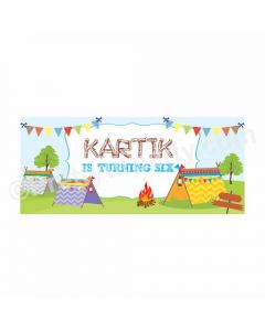 Personalized Camping Theme Banner 30in