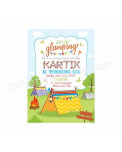 Camping Theme Invitations