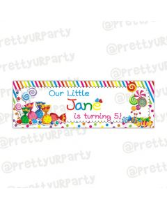 Personalised candy shoppe banner