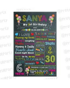 Candy Shoppe Chalkboard Poster