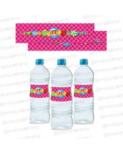 Candy Shoppe Water Bottle Labels