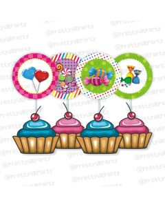 Candy Shoppe Cupcake / Food Toppers